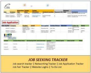 job search tracker networking tracker job application tracker