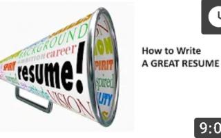 写一份漂亮的简历:Write a Great Resume